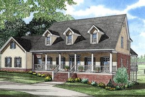 Country Exterior - Front Elevation Plan #17-253