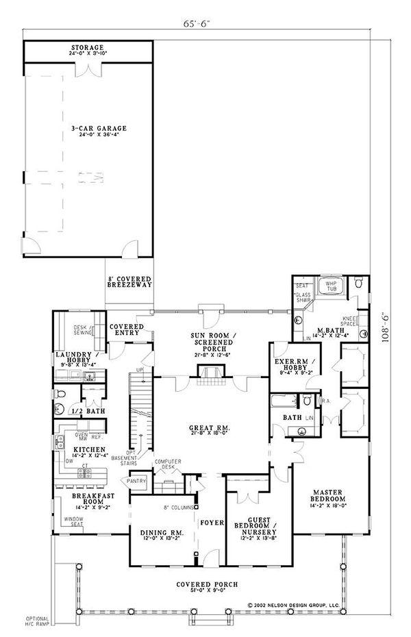 Farmhouse Floor Plan - Main Floor Plan Plan #17-528