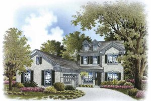 Country Exterior - Front Elevation Plan #999-171