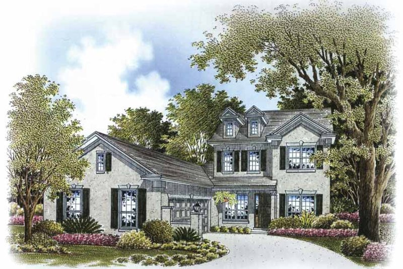 Dream House Plan - Country Exterior - Front Elevation Plan #999-171
