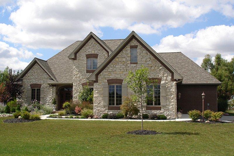 Dream House Plan - European Exterior - Front Elevation Plan #1064-2