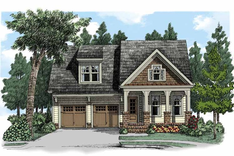 Craftsman Exterior - Front Elevation Plan #927-505 - Houseplans.com