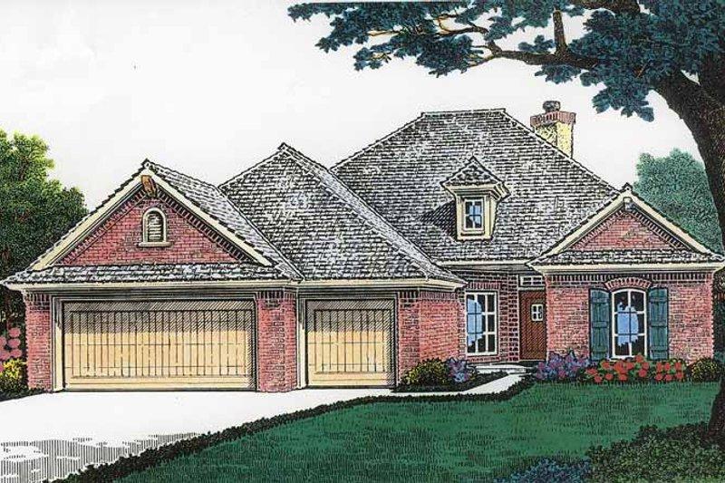 Dream House Plan - European Exterior - Front Elevation Plan #310-1194