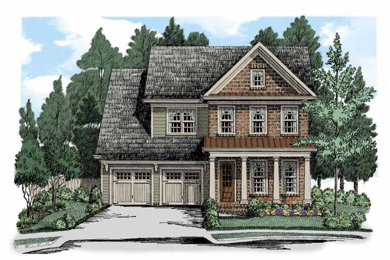 Colonial Exterior - Front Elevation Plan #927-508