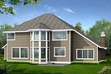Craftsman Exterior - Rear Elevation Plan #132-413
