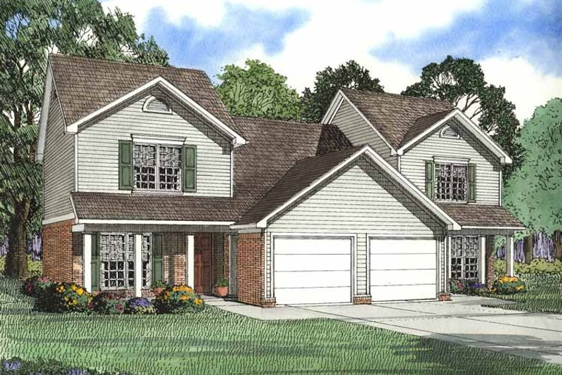 Country Exterior - Front Elevation Plan #17-2756