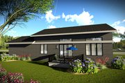 Ranch Style House Plan - 2 Beds 2 Baths 1477 Sq/Ft Plan #70-1452 Exterior - Rear Elevation