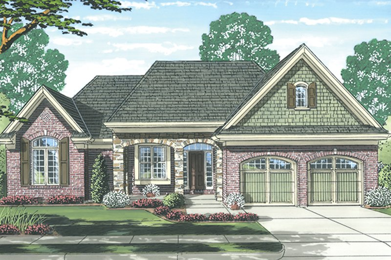 Dream House Plan - Cottage Exterior - Front Elevation Plan #46-844
