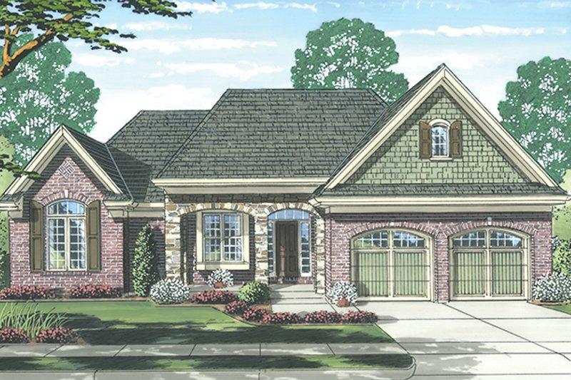 House Plan Design - Cottage Exterior - Front Elevation Plan #46-844