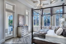 House Plan Design - Mediterranean Interior - Master Bedroom Plan #930-473