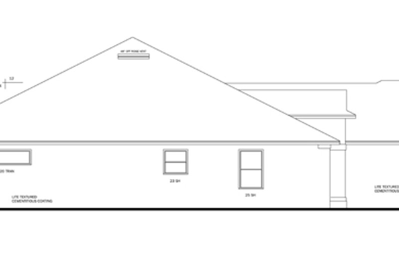 Traditional Exterior - Other Elevation Plan #1058-49 - Houseplans.com