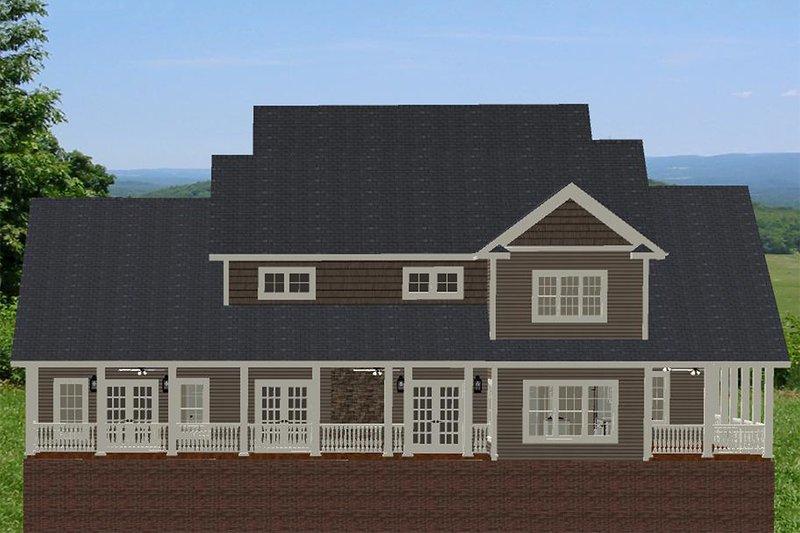 Farmhouse Exterior - Rear Elevation Plan #898-34 - Houseplans.com