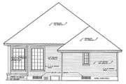 European Style House Plan - 3 Beds 2 Baths 1427 Sq/Ft Plan #310-892 Exterior - Rear Elevation