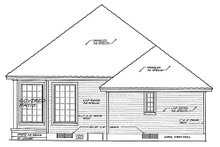 European Exterior - Rear Elevation Plan #310-892