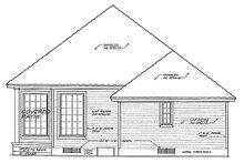 Dream House Plan - European Exterior - Rear Elevation Plan #310-892