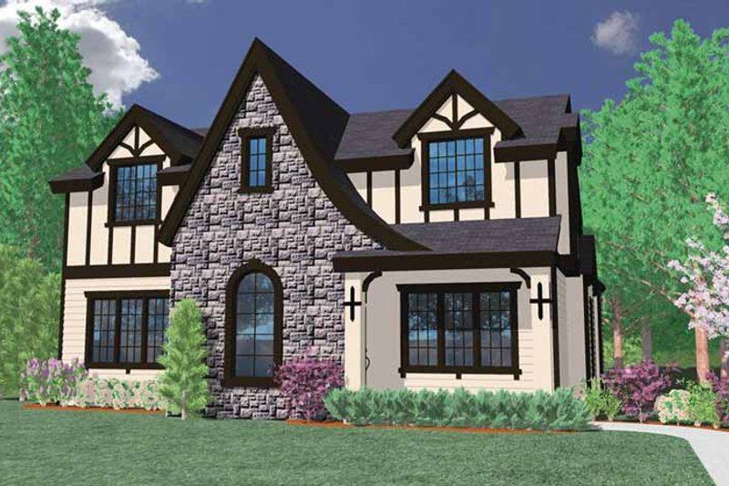 Country Exterior - Front Elevation Plan #509-279