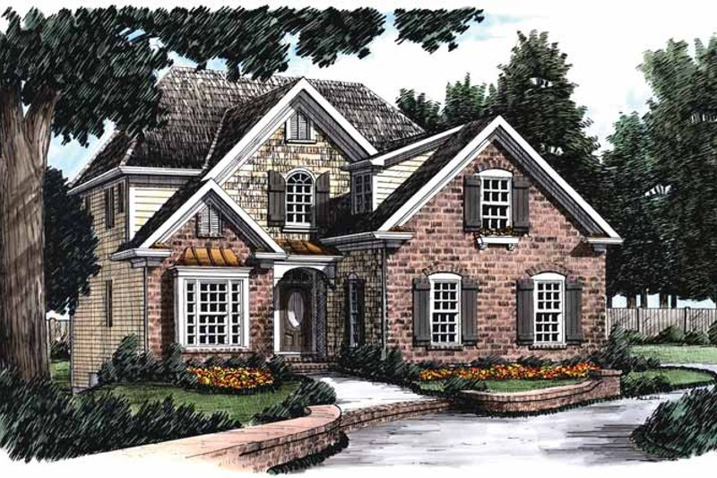 Country Exterior - Front Elevation Plan #927-829