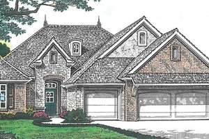 Architectural House Design - European Exterior - Front Elevation Plan #310-1259