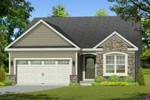 Home Plan - Ranch Exterior - Front Elevation Plan #1010-199