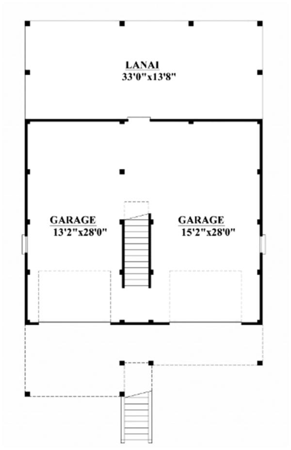 Craftsman Floor Plan - Main Floor Plan Plan #991-25