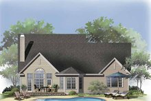 House Plan Design - Traditional Exterior - Rear Elevation Plan #929-820