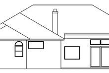 House Plan Design - Mediterranean Exterior - Rear Elevation Plan #999-134