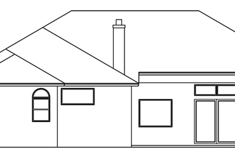 Mediterranean Exterior - Rear Elevation Plan #999-134 - Houseplans.com