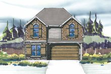 Craftsman Exterior - Front Elevation Plan #509-287