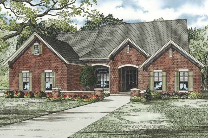 Traditional Exterior - Front Elevation Plan #17-3264 - Houseplans.com