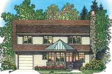 House Plan Design - European Exterior - Rear Elevation Plan #1016-106