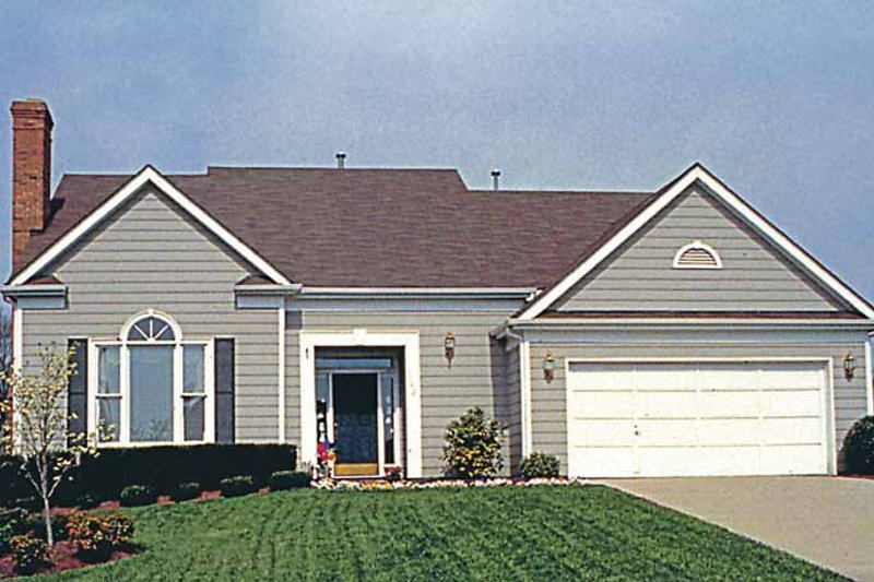 Country Exterior - Front Elevation Plan #453-486