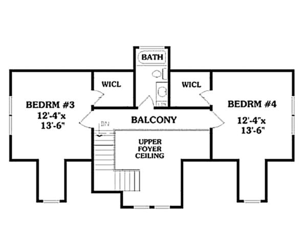 Country Floor Plan - Upper Floor Plan Plan #314-273