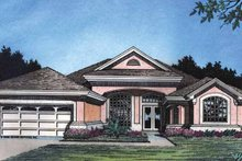 House Plan Design - Mediterranean Exterior - Front Elevation Plan #417-495