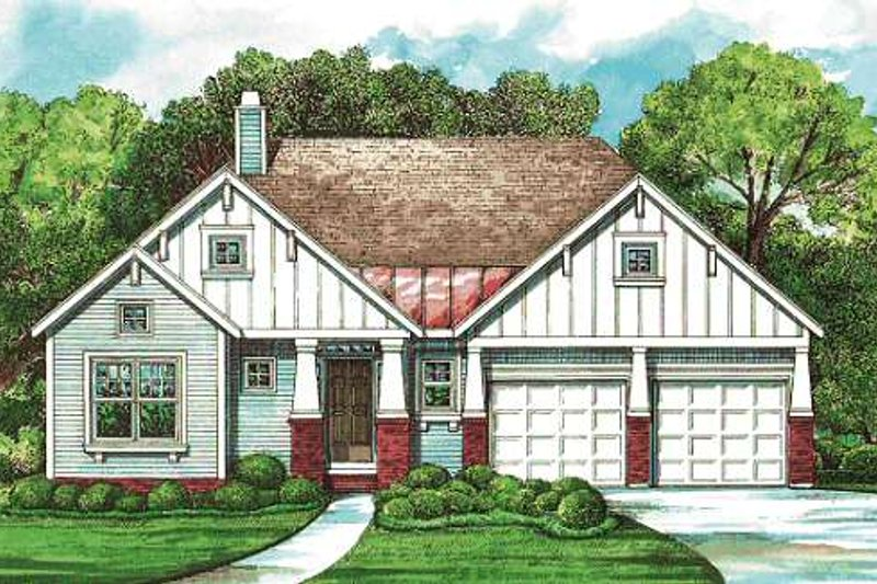 Traditional Exterior - Front Elevation Plan #20-1397 - Houseplans.com