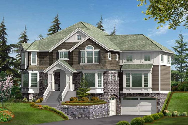Dream House Plan - Craftsman Exterior - Front Elevation Plan #132-452