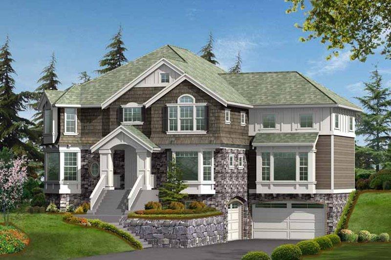 House Plan Design - Craftsman Exterior - Front Elevation Plan #132-452