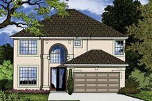 House Plan Design - Mediterranean Exterior - Front Elevation Plan #417-834