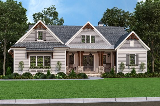 Farmhouse Exterior - Front Elevation Plan #927-1015