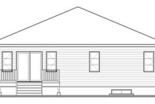 Home Plan - Contemporary Exterior - Rear Elevation Plan #23-2575