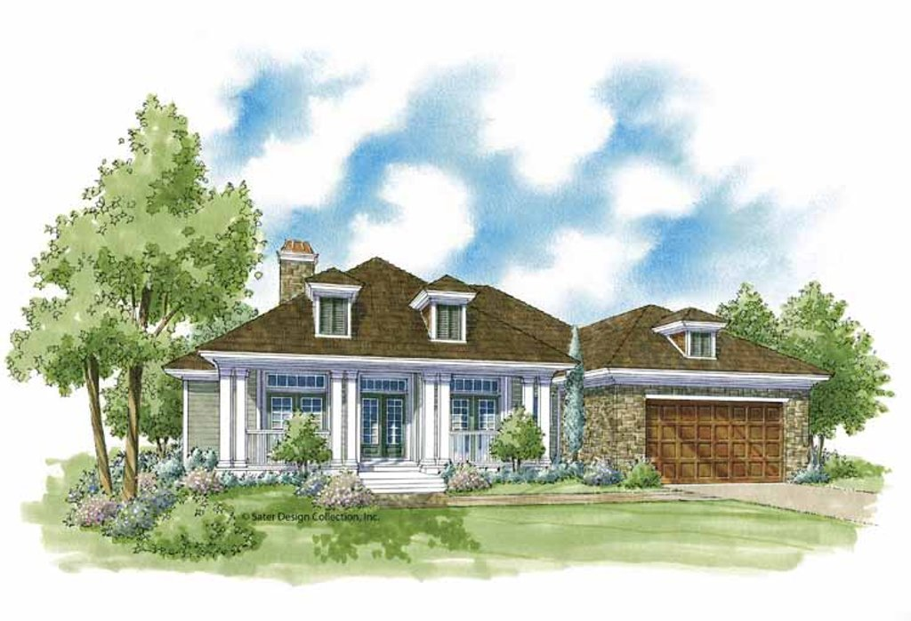 Country Exterior Front Elevation Plan