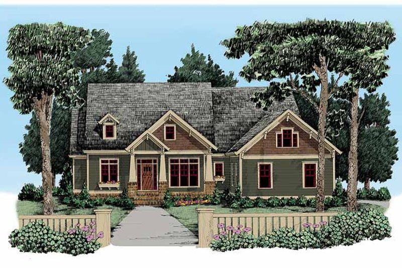 Craftsman Exterior - Front Elevation Plan #927-337