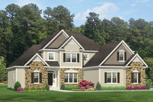 Colonial Exterior - Front Elevation Plan #1010-156