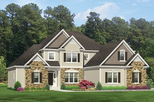 Architectural House Design - Colonial Exterior - Front Elevation Plan #1010-156