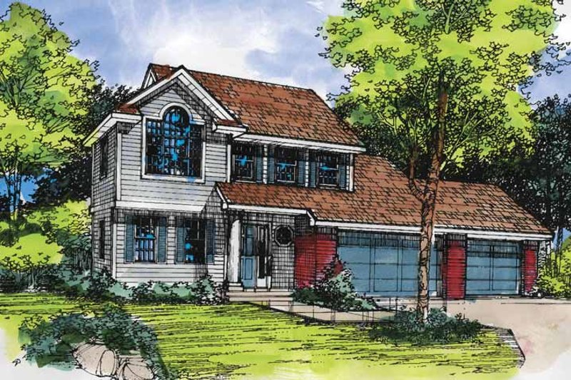 Contemporary Exterior - Front Elevation Plan #320-585
