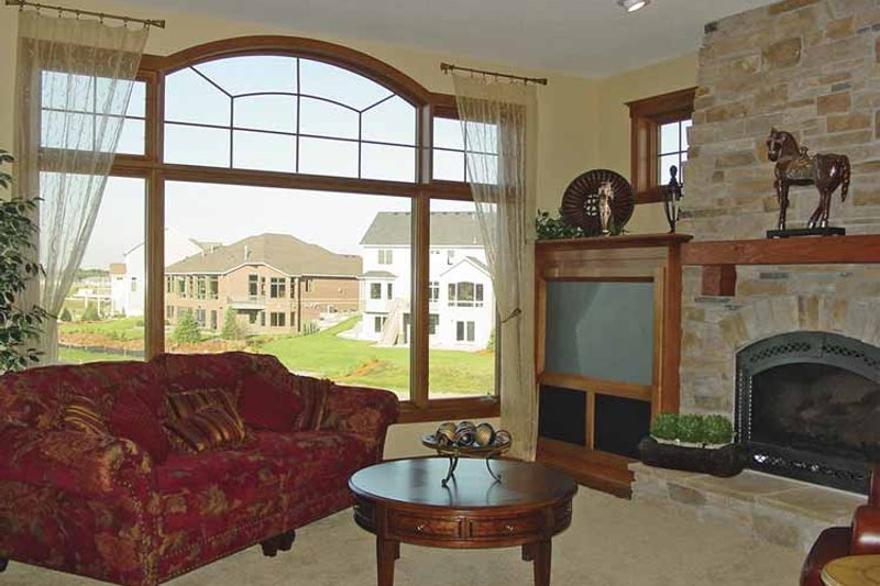 Craftsman Interior - Family Room Plan #320-992 - Houseplans.com