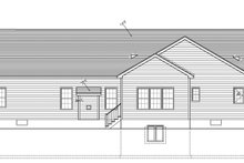 Ranch Exterior - Rear Elevation Plan #1010-84
