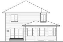 Architectural House Design - Contemporary Exterior - Rear Elevation Plan #23-2587