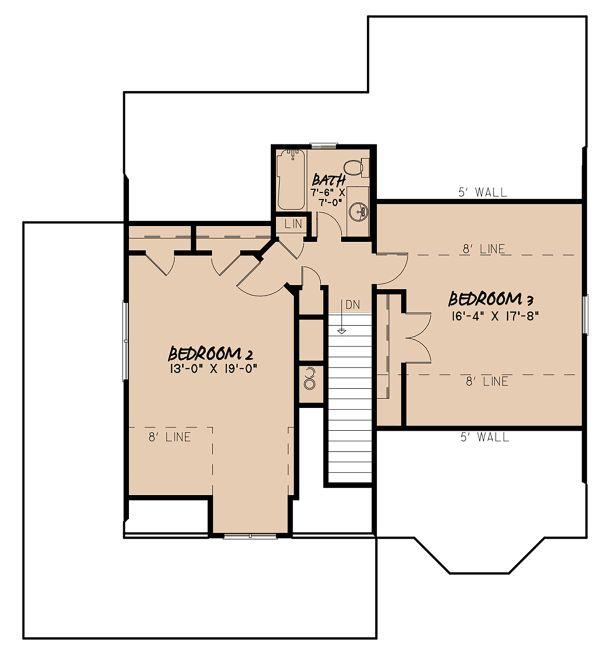 Craftsman Floor Plan - Upper Floor Plan #923-141