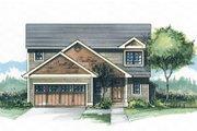 Craftsman Style House Plan - 3 Beds 2.5 Baths 1478 Sq/Ft Plan #53-499 Exterior - Front Elevation