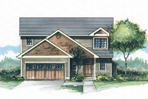 Craftsman Exterior - Front Elevation Plan #53-499